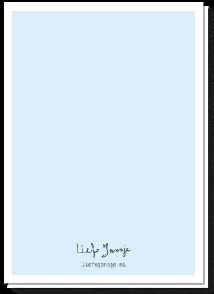 Achterkant geslaagd kaart, helemaal blanco
