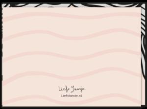 Achterkant verjaardagskaart wrinkles, waarop je alleen maar een gerimpeld voorhoofd ziet