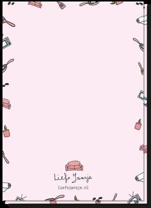 Achterkant valentijnskaart blanco