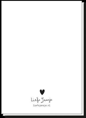 Achterkant geboorte kaart zwart wit blanco