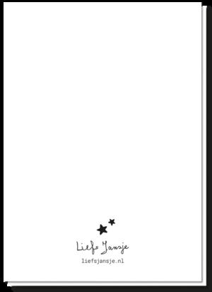 Achterkant wenskaart geboorte tekst blanco