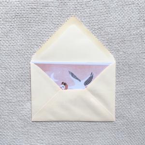 vintage white envelop met mooie sluitsticker